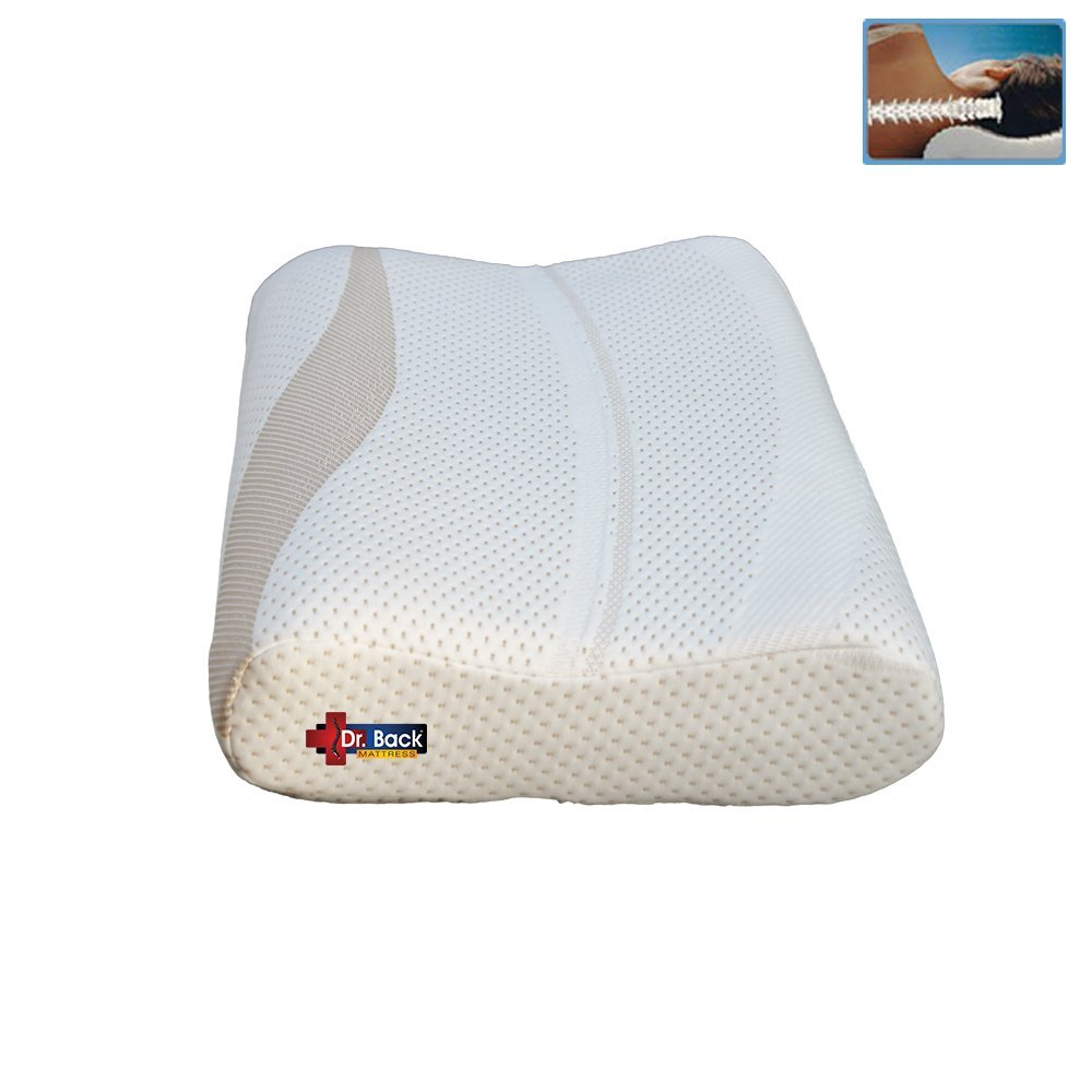 Impereal Contoured Memory Pillow - High Neck Support - Orthopedic Pillow