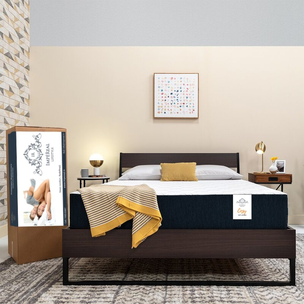 Impereal Cozy - Mattress In A Box - Best Soft Mattress - Mattress Gujarat - Magnet Therapy